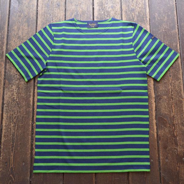ルミノア Le minor 半袖ボーダー Tシャツ MARINE/GREEN