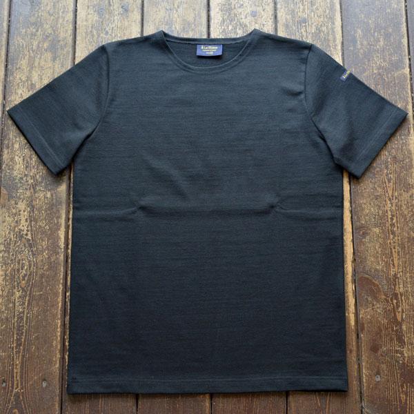 ルミノア Le minor 無地 半袖 バスクシャツ 61895 SOLID NOIR