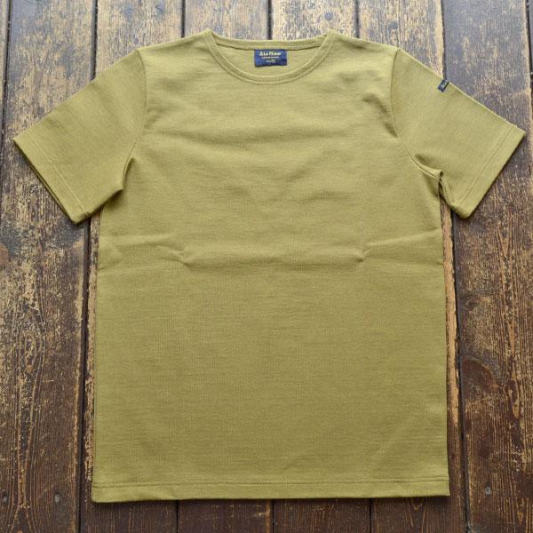 ルミノア Le minor 無地 半袖 バスクシャツ 61895 SOLID KAKI