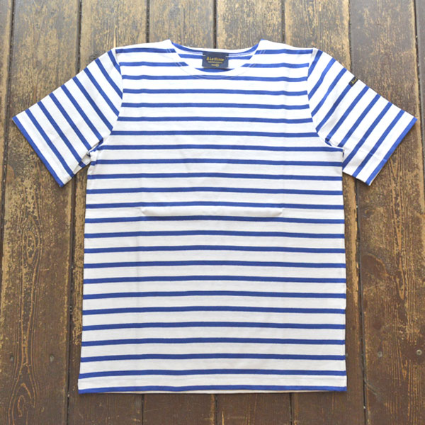 ルミノア Le minor 半袖ボーダー Tシャツ BLANC/ROYAL