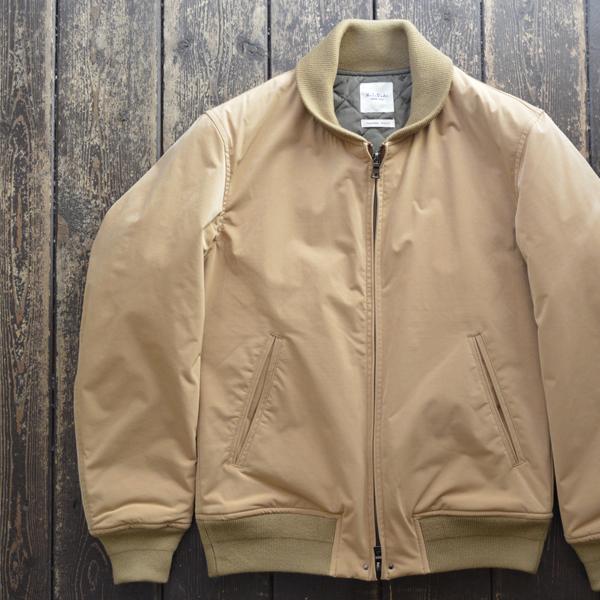 ミダ M.I.D.A ショールカラーブルゾン ダウンキルティング Down Padding Shawl collar Jacket TAN