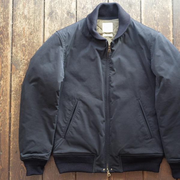 ミダ M.I.D.A ショールカラーブルゾン ダウンキルティング Down Padding Shawl collar Jacket NAVY