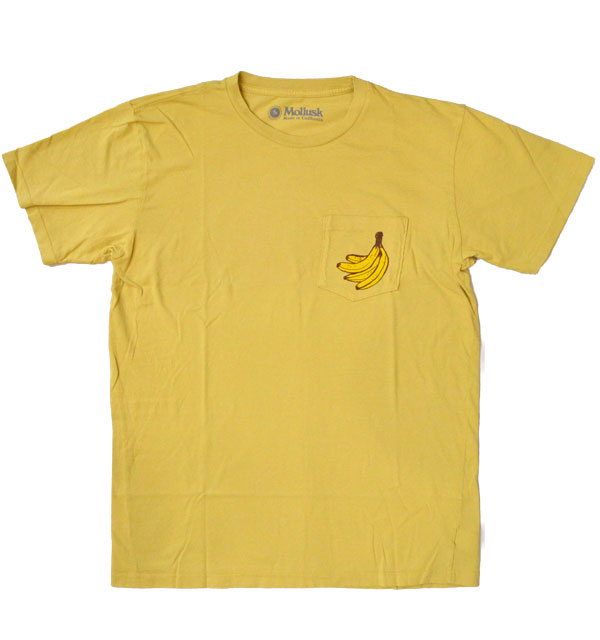 モラスク 【MOLLUSK】 プリントTシャツ BANANAS TEE MADE IN USA
