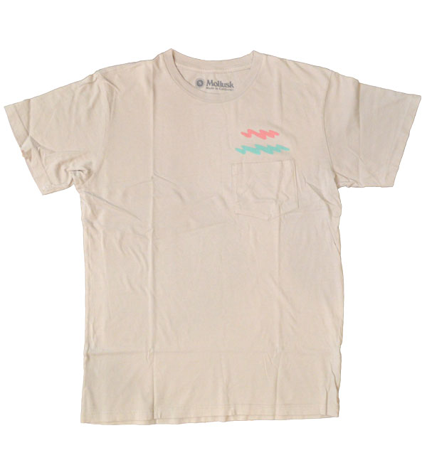 モラスク 【MOLLUSK】 プリントTシャツ ZIGGY ZAGGY TEE MADE IN USA