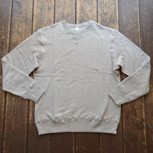 モクティー mocT 吊り編み スウェットシャツ REGULAR FIT LOOPWHEEL CREW-NECK JS130 GR7 グレー