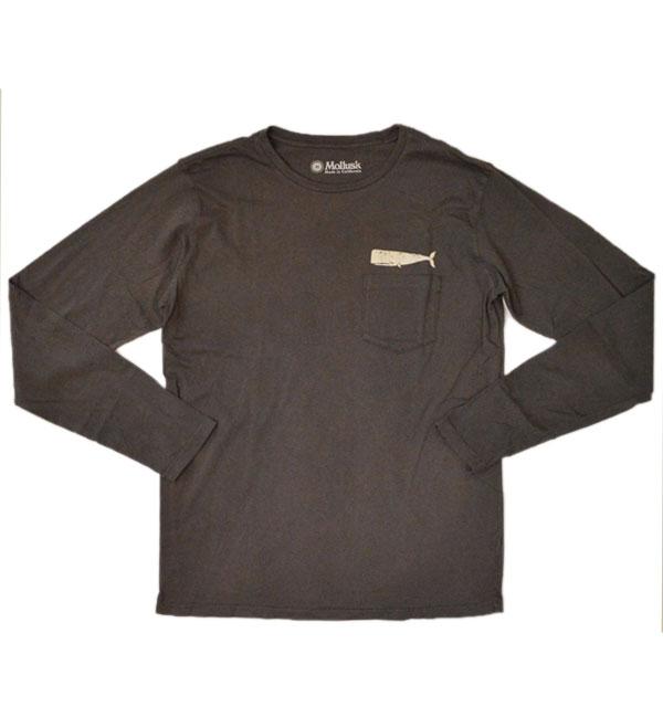 モラスク MOLLUSK コットンロングスリーブTシャツ WHALE