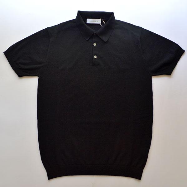 ムーンキャッスル MOONCASTLE アイスコットン S/S ポロシャツ ICE COTTON POLO SHIRT BLACK