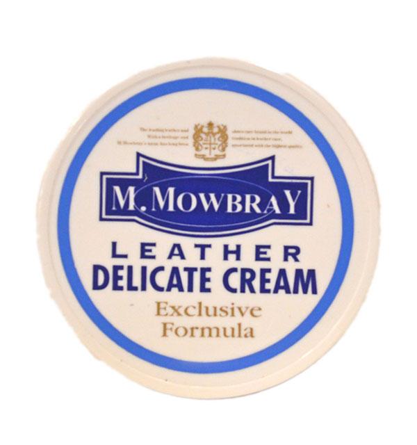 エム・モゥブレィ M.MOWBRAY デリケートクリーム 乳化性タイプ DELICATE CREAM ソフトレザー用・栄養・潤い・柔軟効果