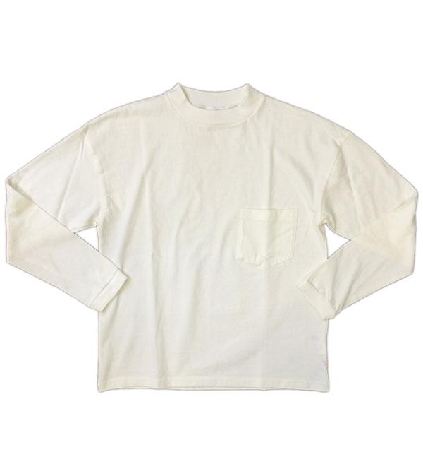 メイプル 【melple】 サンタクルーズ L/S ポケットTEE WHITE