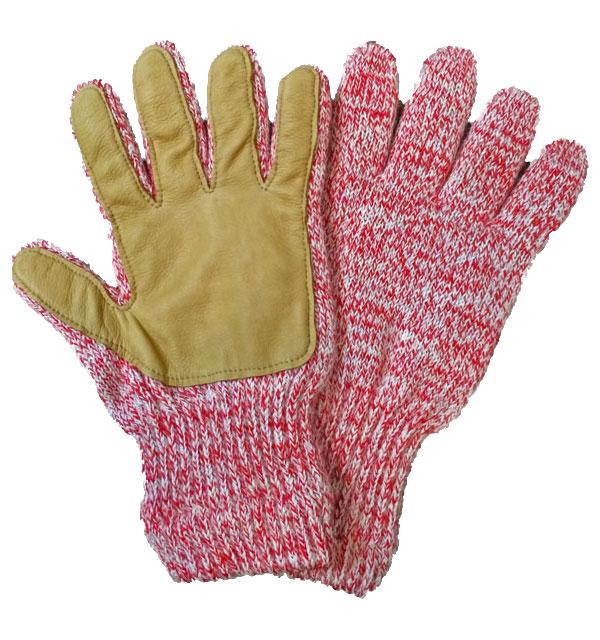 ニューベリーニッティング 【NEWBERRY KNITTING】 Newteck lined ragg wool Glove with Deerskin Palm CHERRY MENS ONE SIZE
