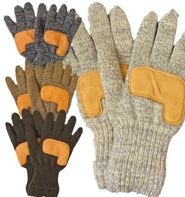 ニューベリーニッティング NEWBERRY KNITTING ディアスキン ラグウール グローブ フリースライナー Newteck lined ragg wool Glove with Deerskin Palm LADIES ONE SIZE 4COLOR