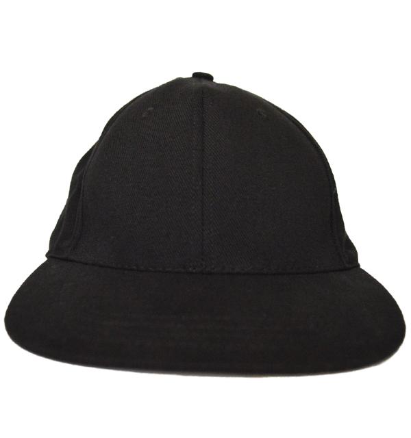 ニューイングランドキャップ NEW ENGLAND CAP ブラックデニム 6PANELキャップ BRUSHED BLACK DENIM PLAIN