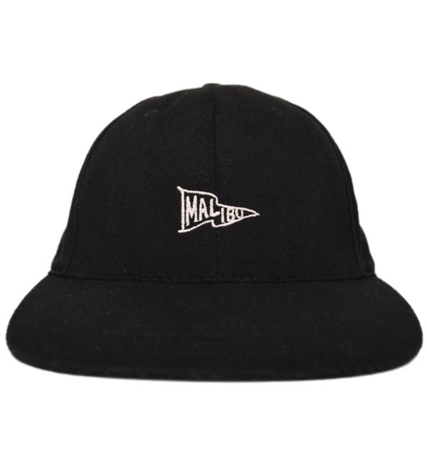 ニューイングランドキャップ NEW ENGLAND CAP ブラックデニム 6PANELキャップ BRUSHED BLACK DENIM MALIBU EMBROIDERY