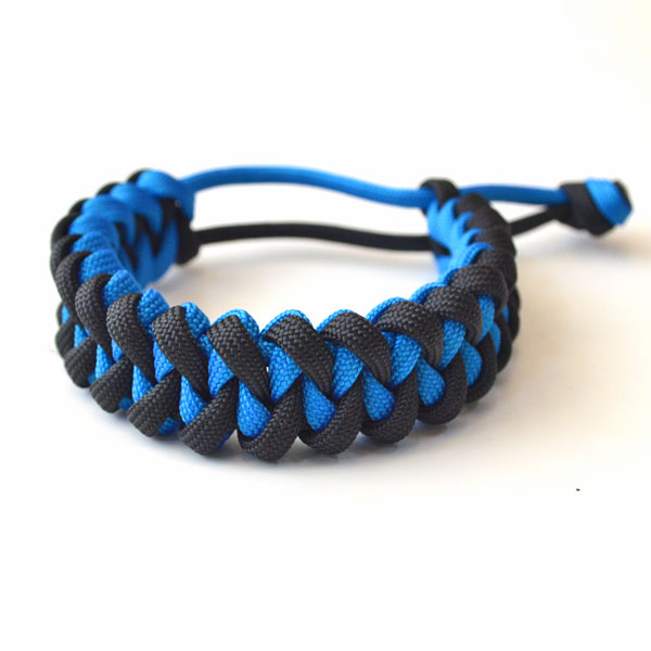 USAコード ロープブレスレット ROPE BRACELET BLACK/BLUE