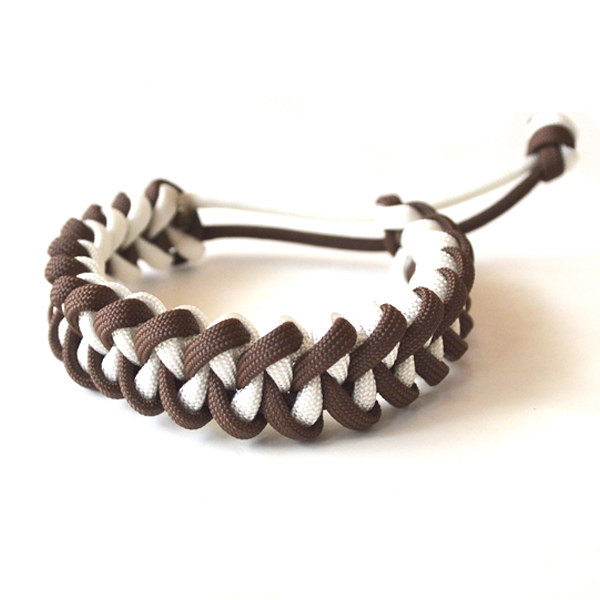 USAコード ロープブレスレット ROPE BRACELET BROWN/WHITE