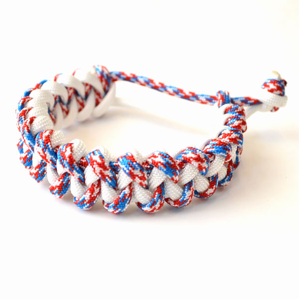 USAコード ロープブレスレット ROPE BRACELET PATRIOT/WHITE