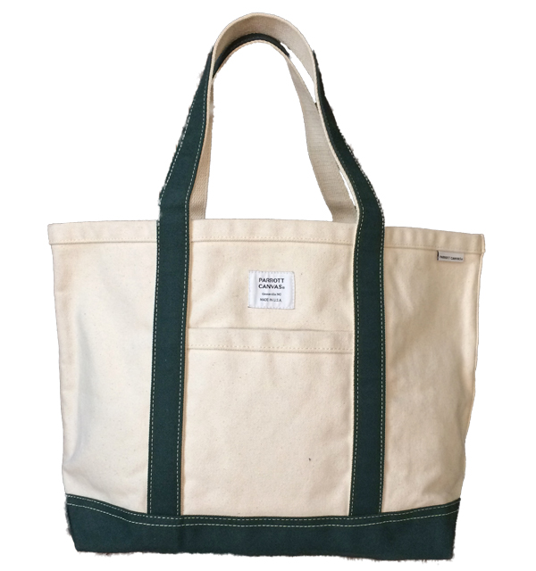 パロットキャンバス 【PARROT CANVAS】 MEDIUM TOTE DUCK NATURAL/GREEN