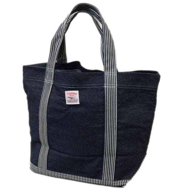 ポインターブランド 【POINTER BRAND】 TOTE BAG DENIM×HICKORY MADE IN USA