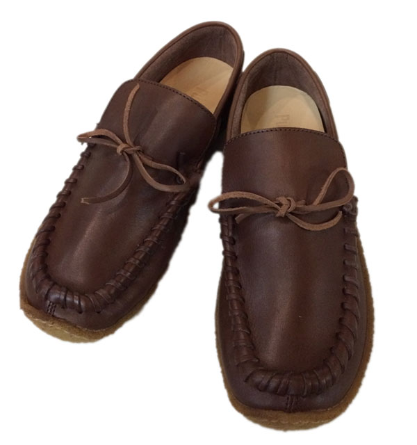 プントピグロ 【PUNTO PIGRO】 MOCO3 LOW CUT MOCASSIN SHOES  ローカットモカシン BROWN