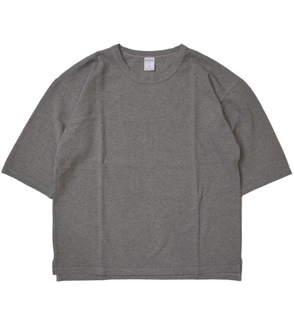 コティディアン quotidien 鹿の子ビッグ5分袖Tシャツ PIQUE BIG TEE AV15 004 GRAY