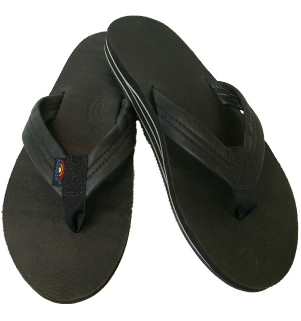 レインボーサンダル 【RAINBOW SANDALS】  Double Layer Classic Leather with Arch Support ダブルレイヤー クラシックレザー BLACK