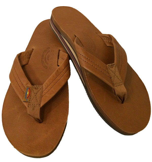 レインボーサンダル 【RAINBOW SANDALS】  Double Layer Classic Leather with Arch Support ダブルレイヤー クラシックレザー BROWN