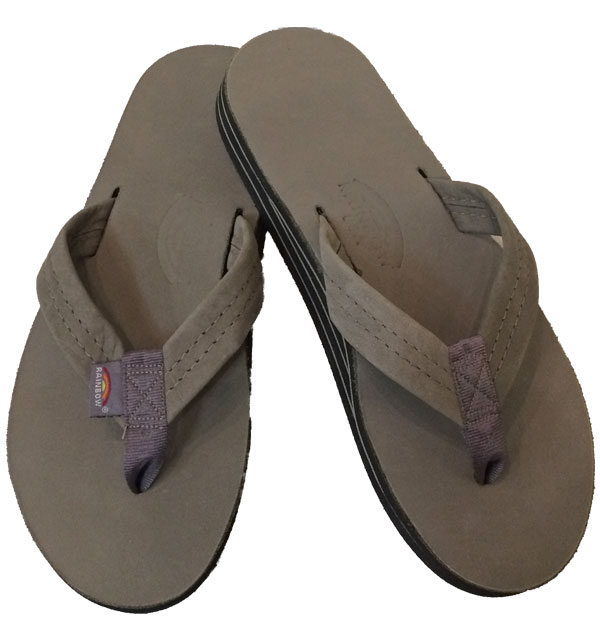 レインボーサンダル 【RAINBOW SANDALS】 Double Layer Premier Leather with Arch Support ダブルレイヤー プレミアムレザー GRAY