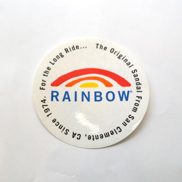"""レインボーサンダル RAINBOW SANDALS レインボーロゴ ステッカー RAINBOW LOGO STICKER 4"""" BLACK CIRCLE 2016"""