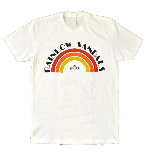 レインボーサンダル RAINBOW SANDALS ヴィンテージレインボーサンダルロゴTシャツ VINTAGE RAINBOW SANDAL LOGO T-SHIRT WHITE