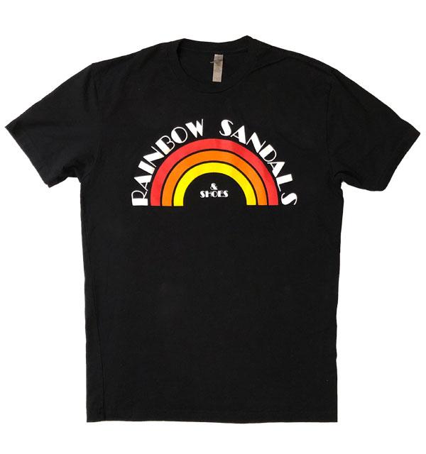 レインボーサンダル RAINBOW SANDALS ヴィンテージレインボーサンダルロゴTシャツ VINTAGE RAINBOW SANDAL LOGO T-SHIRT BLACK