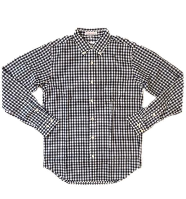 セロ 【SERO】 ギンガムチェックブロード ボタンダウンシャツ MADE IN USA NAVY