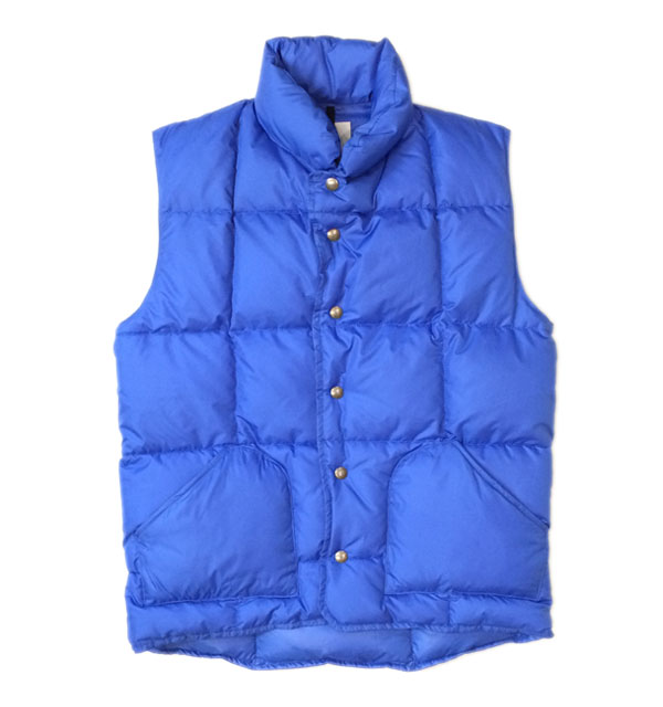 シェラデザイン 【SIERRA DESIGNS】 NYLON DOWN SIERRA VEST BLUE