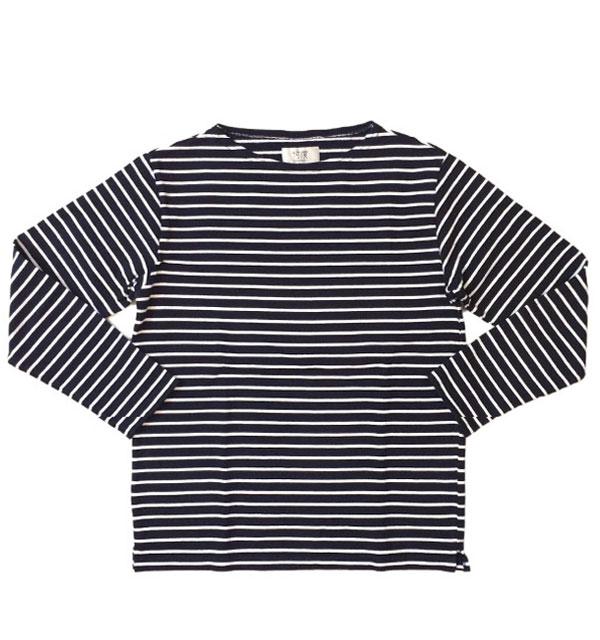 ソンタク 【SONTAKU】 BORDER VASQUE SHIRT バスクシャツ ボーダー 9分袖 NAVY/WHITE