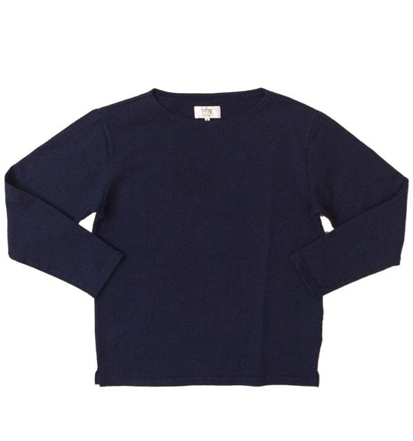 ソンタク 【SONTAKU】 VASQUE SHIRT バスクシャツ 9分袖 NAVY