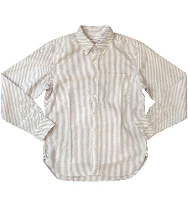 ソンタク 【SONTAKU】 OXFORD BD SHIRTS オックスフォードボタンダウンシャツ BLUE STRIPE