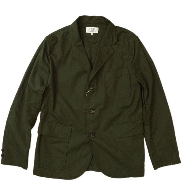 ソンタク 【SONTAKU】 Oxford washable 3button jacket オックスフォードシャツジャケット OLIVE