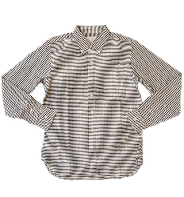 ソンタク 【SONTAKU】 OXFORD BD SHIRTS オックスフォードギンガムチェックボタンダウンシャツ BLACK
