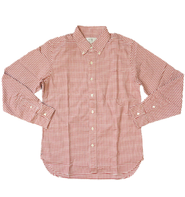 ソンタク 【SONTAKU】 OXFORD BD SHIRTS オックスフォードギンガムチェックボタンダウンシャツ RED