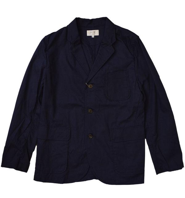 ソンタク 【SONTAKU】 Oxford washable 3button jacket オックスフォードシャツジャケット NAVY