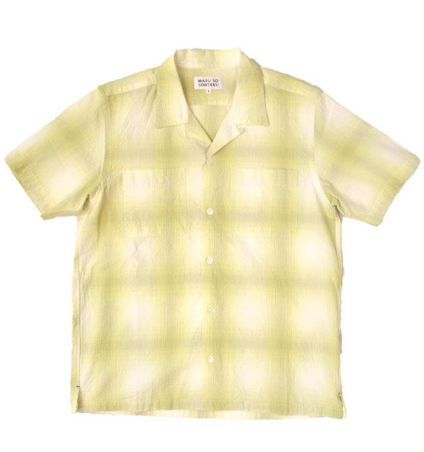 ソンタク 【SONTAKU】 オンブレ半袖オープンシャツ OMBRE S/S OPEN SHIRT GREEN