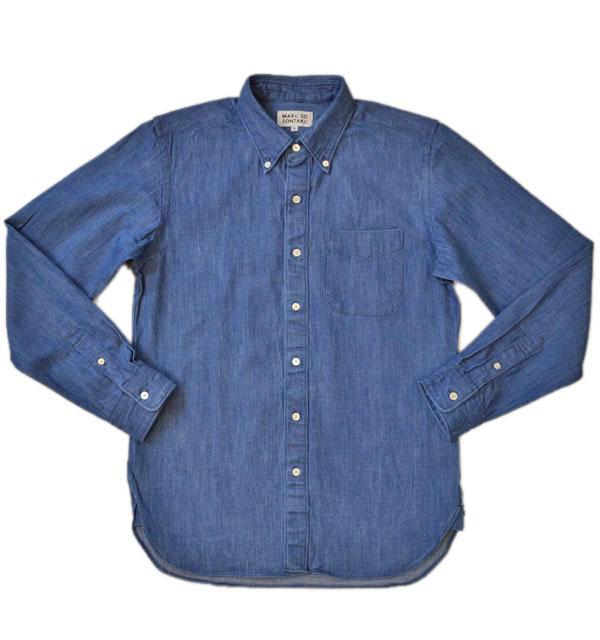 ソンタク SONTAKU デニムボタンダウンシャツ DENIM BD SHIRTS HD99584 L.INDIGO