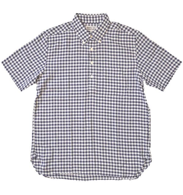 ソンタク SONTAKU リネン/クールマックス混 半袖プルオーバーシャツ 892HD26566 NAVY-GGM