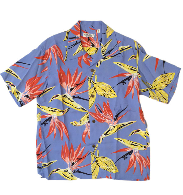 サンサーフ 【SUN SURF】 ALOHA SHIRTS BIRD OF PARADISE BLUE