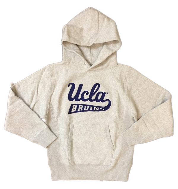 チェスウィック 【Cheswick】  ヘビーオンスプルオーバーパーカー UCLA チェーン刺繍 GRAY