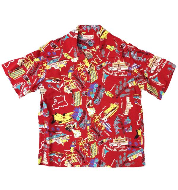 サンサーフ 【SUN SURF】 アロハシャツ ALOHA SHIRTS PLANTATION PARADISE RED