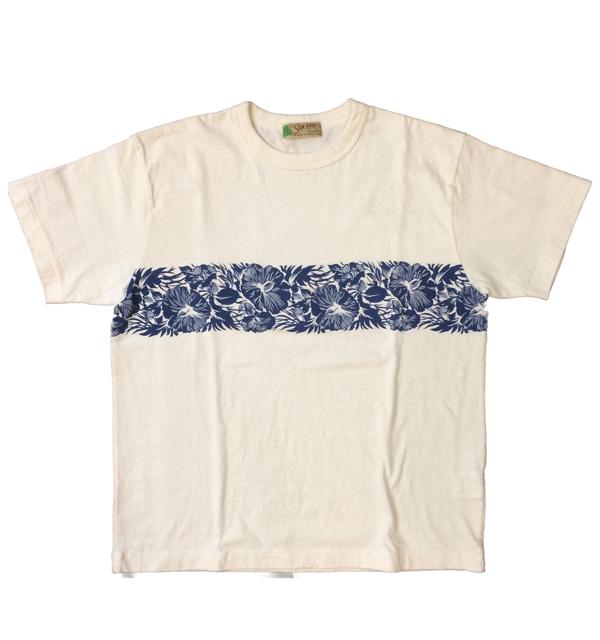 サンサーフ 【SUN SURF】 ハイビスカス ボーダーTシャツ HIBISCUS BORDER WHITE