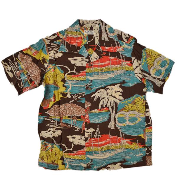 サンサーフ 【SUN SURF】 アロハシャツ ALOHA SHIRTS ALA MOANA BLACK