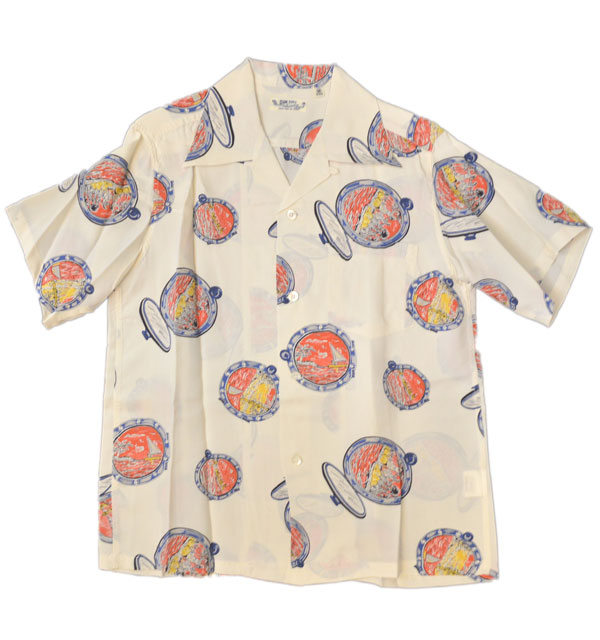 サンサーフ 【SUN SURF】 アロハシャツ ALOHA SHIRTS PORT HOLE DUKE KAHANAMOKU WHITE