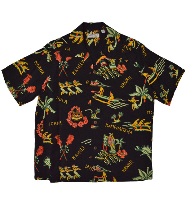 サンサーフ 【SUN SURF】 アロハシャツ ALOHA SHIRTS THE HAWAIIAN GOOD OLD TIMES BLACK