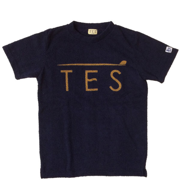 ザエンドレスサマー 【THE ENDLESS SUMMER】  COMFORTABLE PILE TES TEE パイルプリントTEE NAVY
